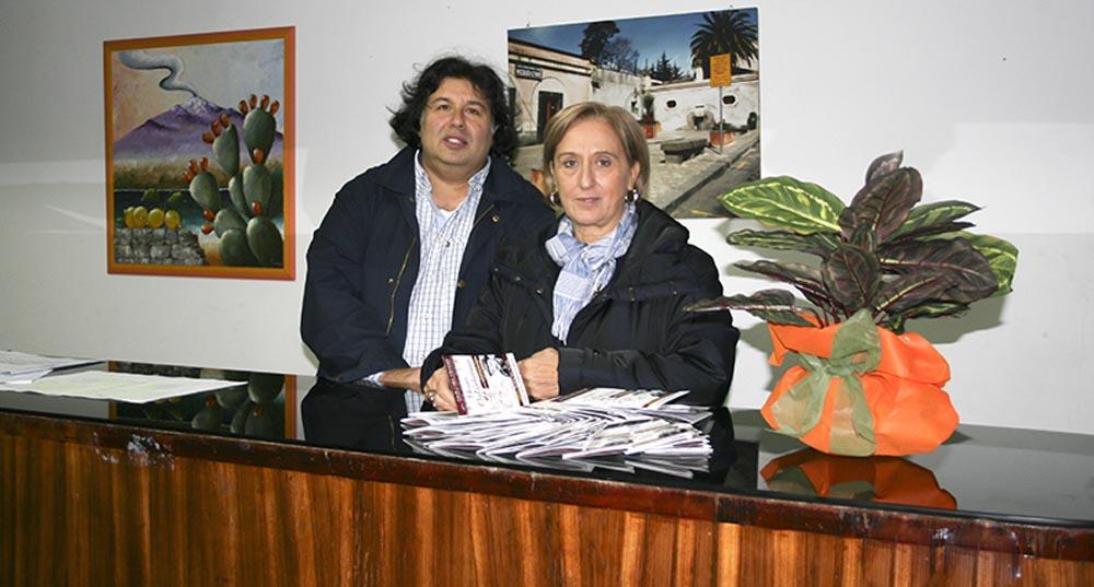 Gaetano Salvia e Liliana Majorana