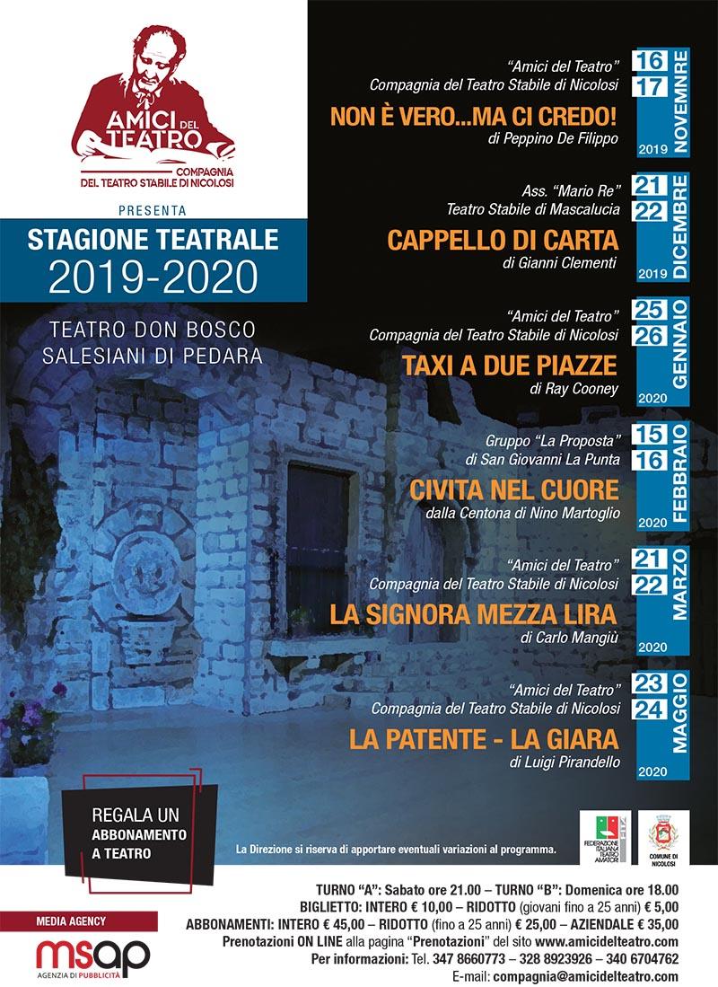 rassegna teatrale 2019 2020